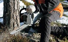 Motoferastraie pe benzina pentru domeniul forestier